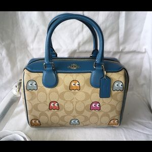 Coach Mini Bennett Satchel In Pac-Man Ghost Print